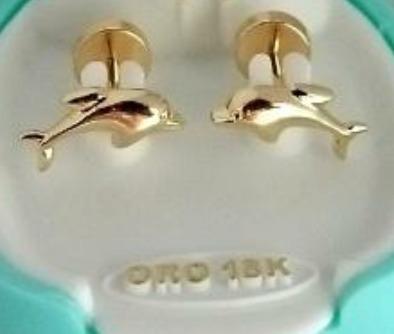 1b9a32ac3d0a Aros Abridores De Oro 18k Diseño Delfín