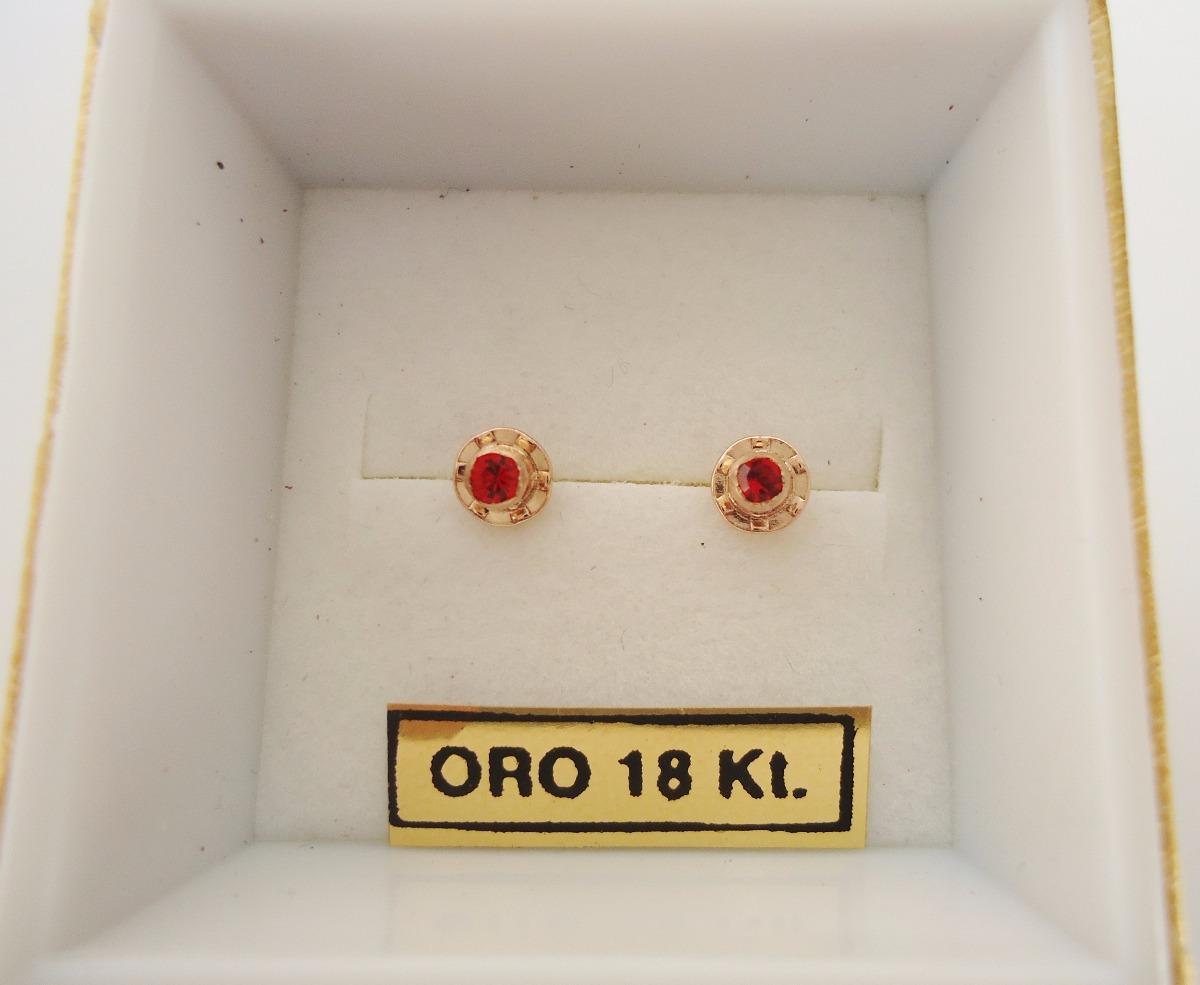 c7af8c22cb55 aros abridores oro 18 kt piedra cubic chico rojo bebé nena. Cargando zoom.