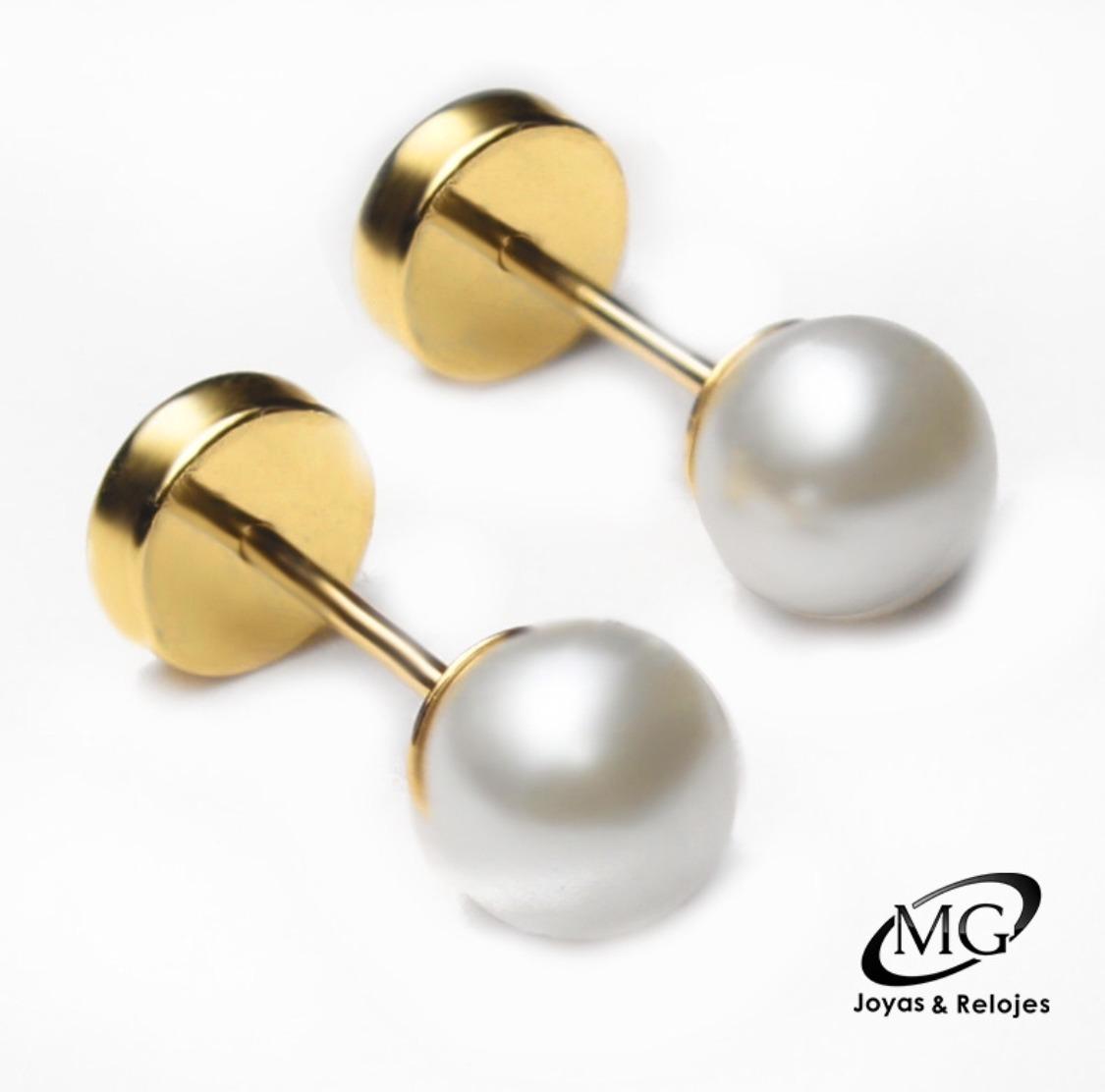 0b422ed16874 aros abridores oro 18k perla 4 mm envío gratis. Cargando zoom.