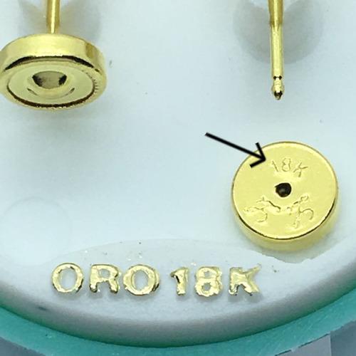 aros abridores oro 18k perla 5 mm tic (cierre) oro 18k