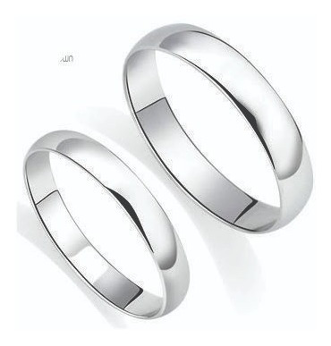 aros anillo  plata 950 para pareja , por unidad 50 soles
