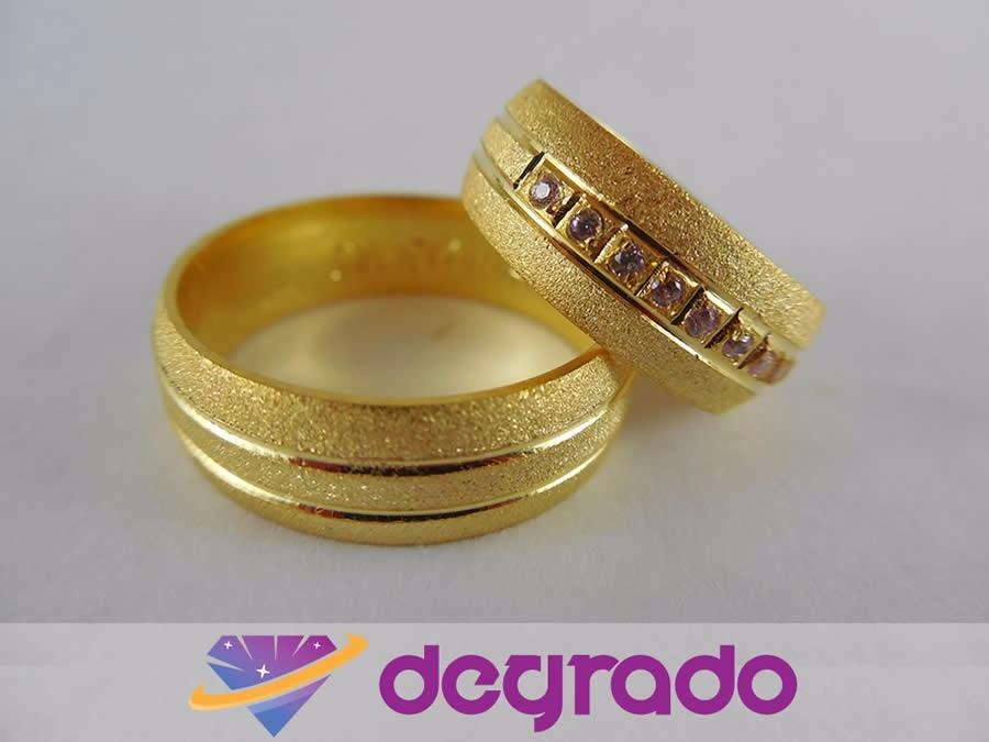 Aros anillos de boda matrimonio con ba o de oro 18k bs - Bano de oro precio ...