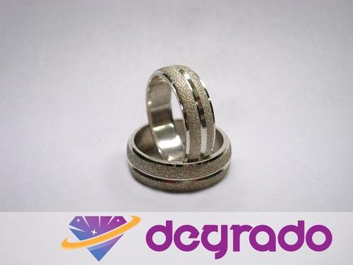 aros anillos de boda matrimonio plata ley 925