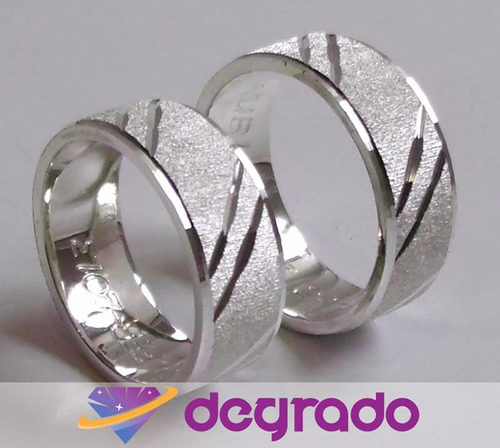 aros anillos de matrimonio en plata y oro