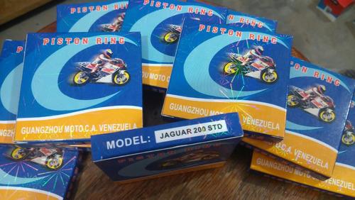 aros anillos moto 200cc standar jaguar 200