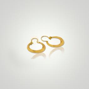 Pendientes aros labrados de mujer con oro amarillo laminado 18 kt