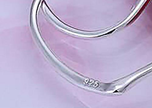 aros argolla tipo ovalo diseño joyas plata 925 y caja