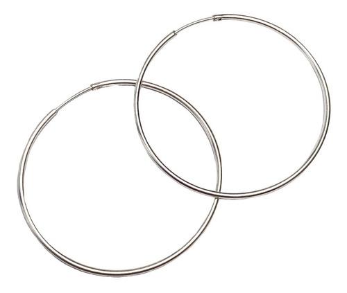 aros argollas cubanos 4,7 cm plata 925 (nro 11)