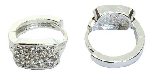 aros argollas plata 925 con cubics  1,5 cm (arg20018)