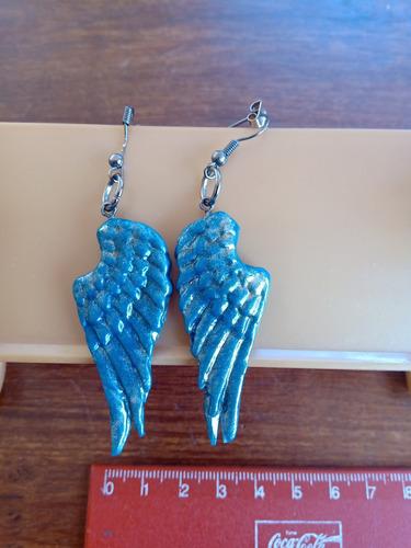 aros artesanales regalo reyes únicos! par de alas