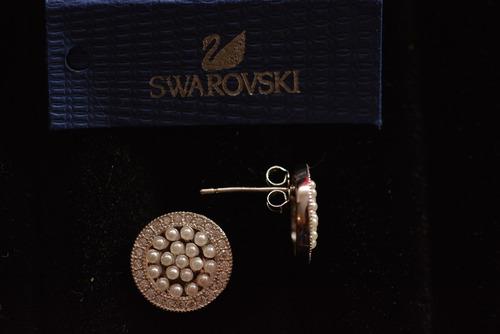 aros  círcula , plata 925, swarovski elements originales