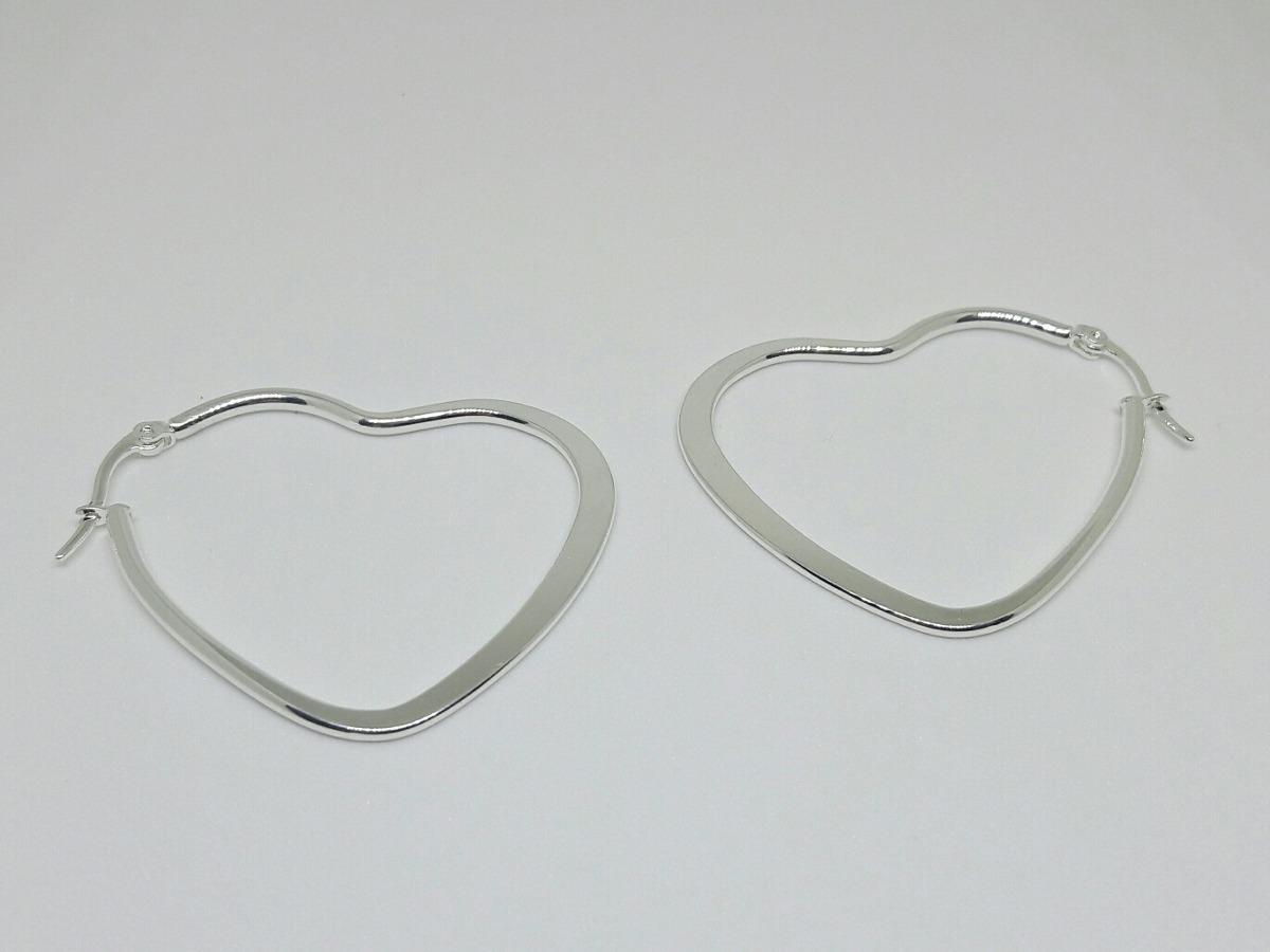 precio de descuento apariencia elegante moda más deseable Aros Colgantes D Acero Blanco Corazón Mujer Moda Accesorios