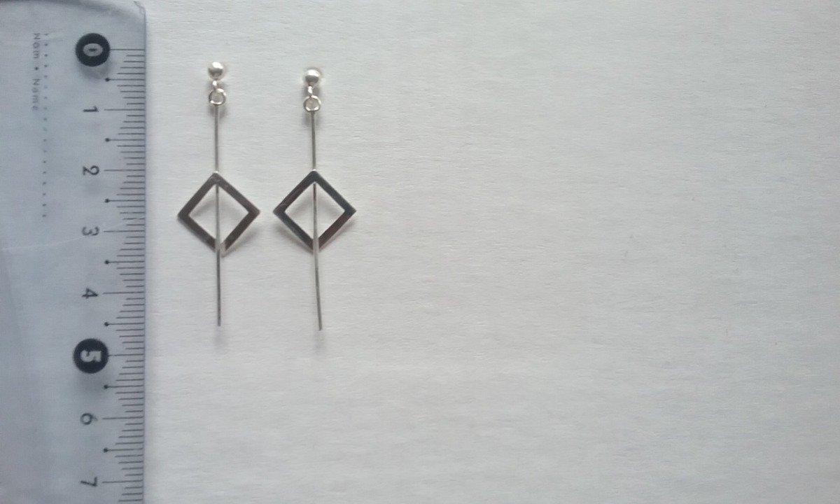 3e785658b35c aros colgantes pendientes rombos plata 925 oferta. Cargando zoom.
