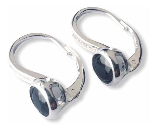 aros colgantes plata 925 con piedras (le4315/16/17)
