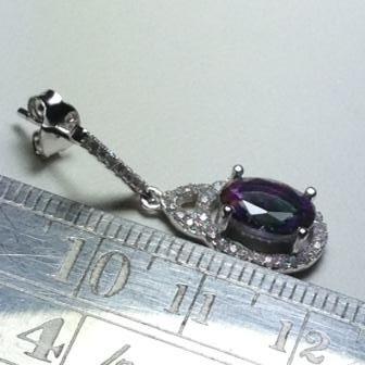 aros colgantes  plata 925 cristal topacio mistico swarovski