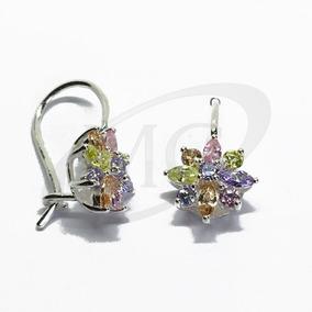 fb12d2640831 Aros De Plata Flor Con Rubi - Joyas y Relojes en Mercado Libre Argentina