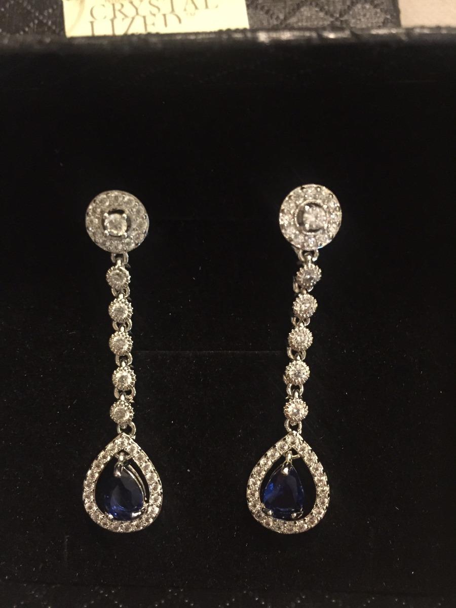 99a676652a81 aros colgantes swarovski elements cristal o azul fiesta. Cargando zoom.