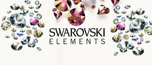 aros combo x2 pares decristales terminacion piedras swaroski