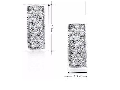 aros con circon bañado en plata (030206) elbauldecorina
