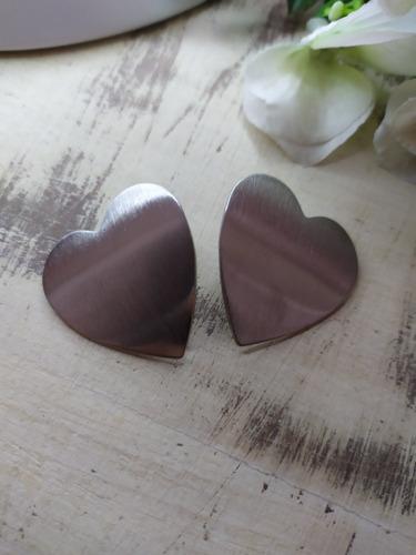 aros corazón de acero quirúrgico