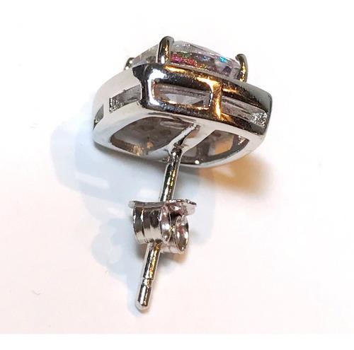 aros cuadrados plata 925 y cristal swarovski topacio mistico