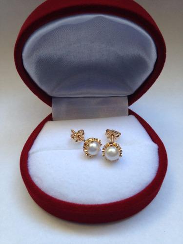 aros cuello payaso perlas cultivadas ( adulto 2,2 gramos)