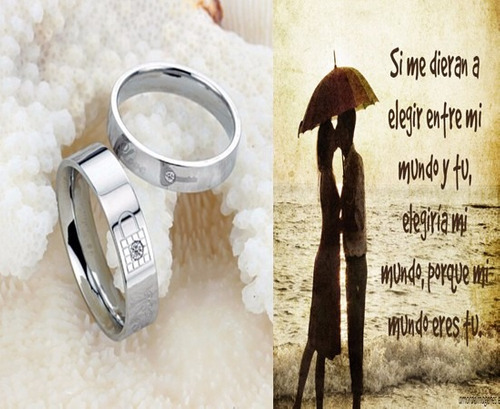 aros d matrimonio, alianzas d compromiso de acero quirurgico