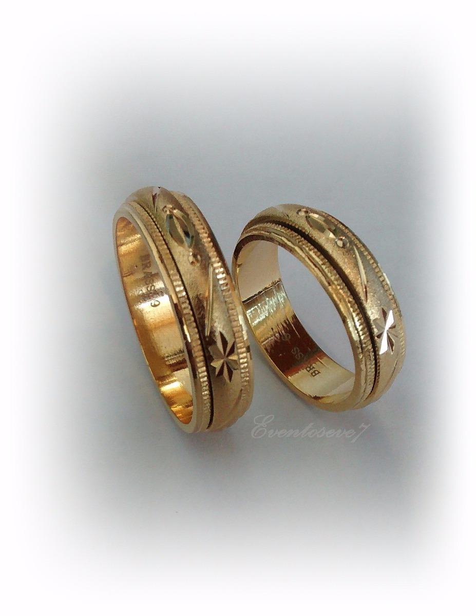 aros de boda o compromiso oro laminado k modelo antiestres