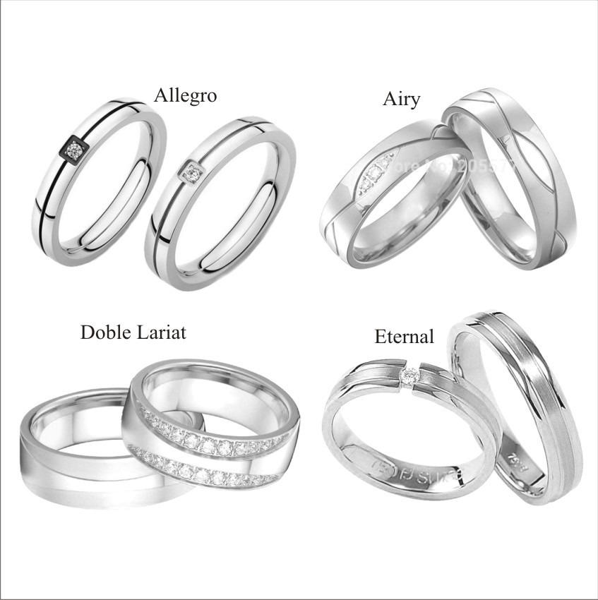 Aros de matrimonio de plata 950 con ba o de rodio for Bano de rodio precio