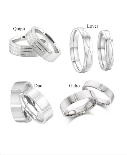 aros de matrimonio de plata 950 - ragazza