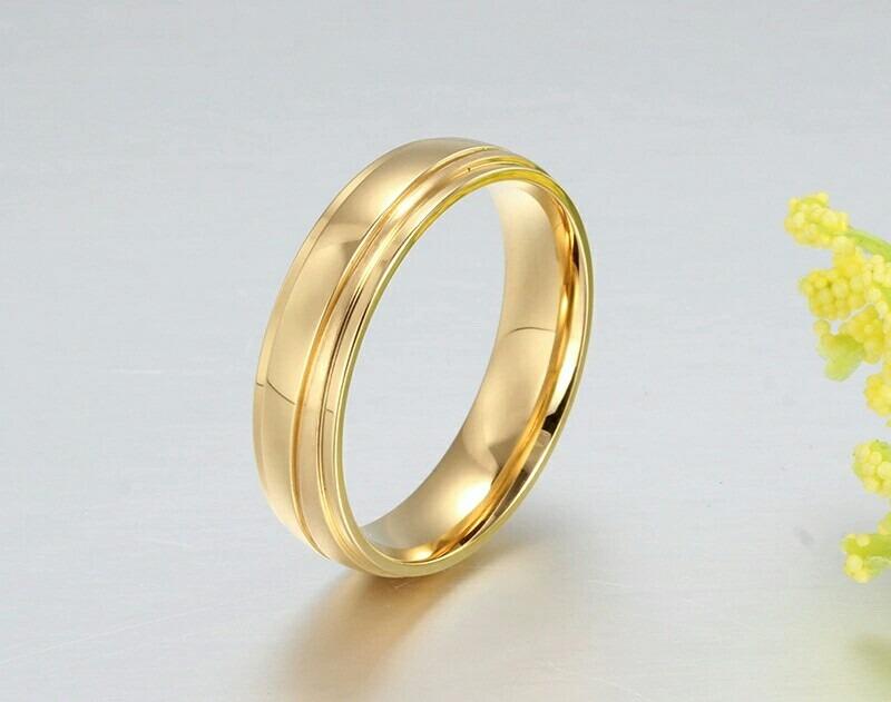 Aros De Matrimonio Mujer Hombre Oro 18k Amor Anillos Boda