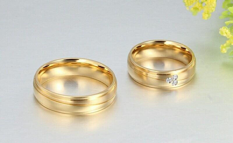 23face9d6b5a aros de matrimonio mujer hombre oro 18k amor anillos boda. Cargando zoom.