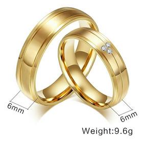 diseño atemporal 3baf9 2e12e Aros De Matrimonio Mujer Hombre Oro 18k Amor Anillos Boda
