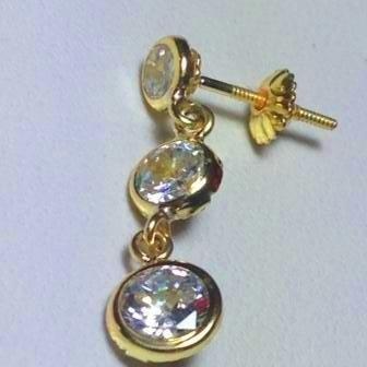 aros de oro 18 k con cristal swarovski