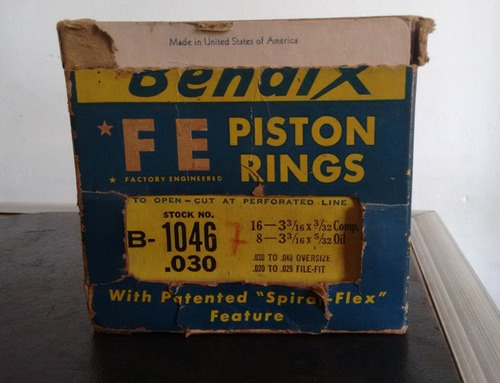 aros de piston ford v8 flathead 59ab importados