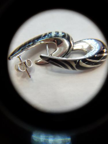 aros de plata 925 animal print