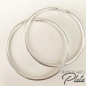 d8233c546377 Finisimos Aros Argollas De Plata - Aros de Plata en Mercado Libre Argentina