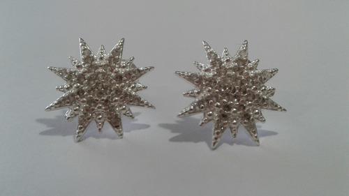 aros de plata 925 estrella
