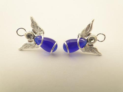 aros de plata 925(no bañados) angel con zirconia pke110