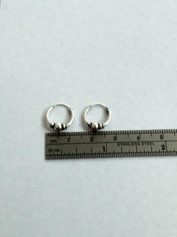 55885295dad9 aros de plata mini argollas bali. Cargando zoom.