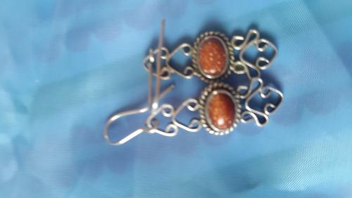 aros de plata sellada/ aventurina roja tuareg.victorianos