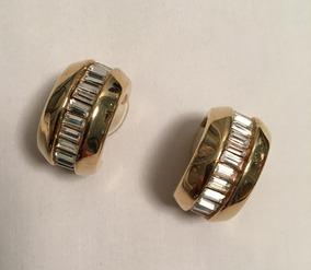 58625c850ad4 Aros Dorados Con Piedras ( Para Orejas Sin Perforar)
