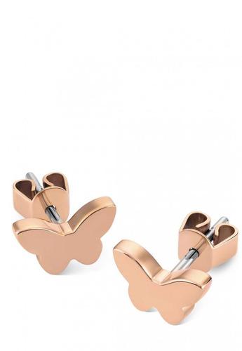 aros earrings rose gold swatch