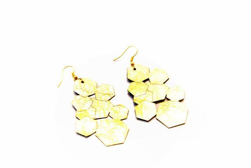 aros geometricos (dorado)