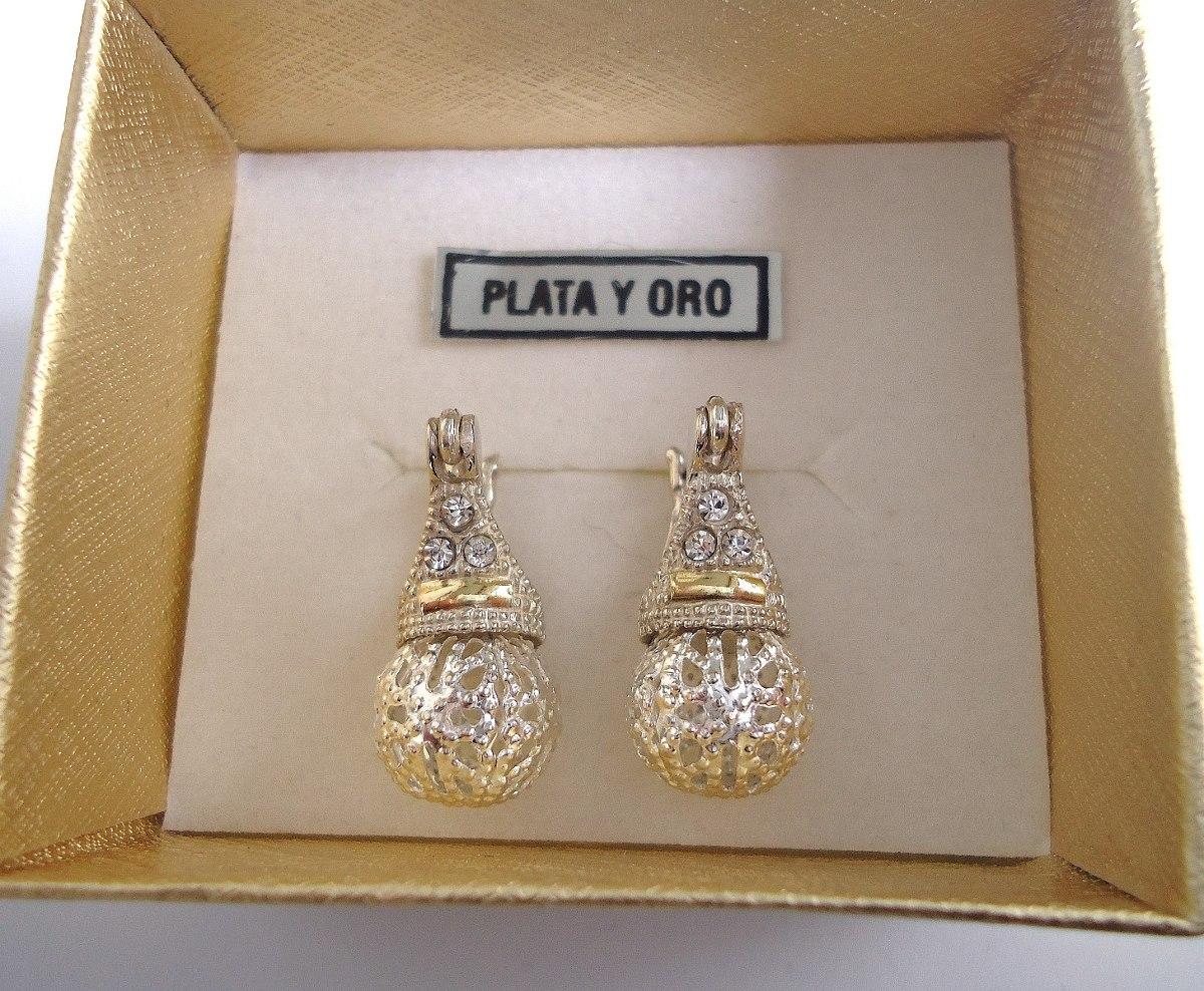 f04b44d8cdb3 aros lady di plata y oro cúbics bolita calada hermosos!!! Cargando zoom.