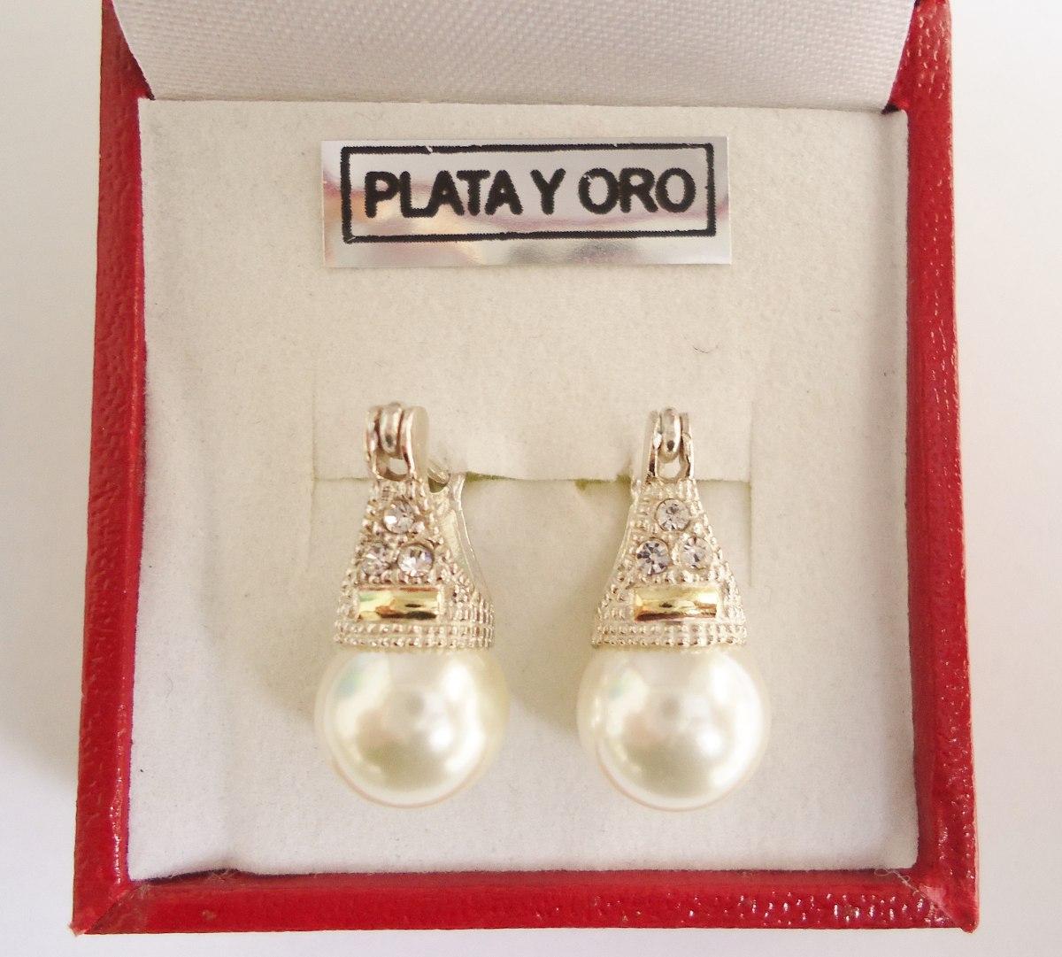 da698e3d9904 aros lady di plata y oro cúbics y perla preciosos!!! Cargando zoom.