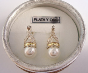 91d5d9667a62 Aros Colgantes Plata Y Perlas en Mercado Libre Argentina