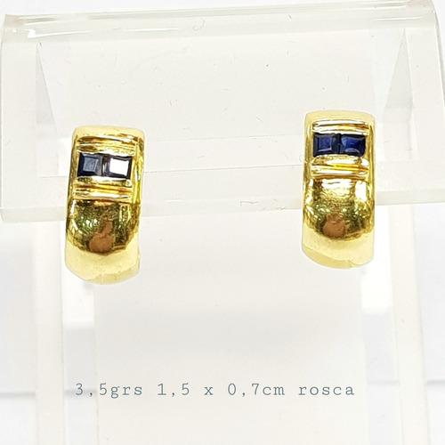 aros oro 18k amarillo cubics 3,5grs rosca brumatjoyas