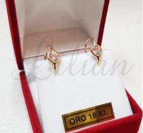 ccad94a089c0 Aros Argolla Con Piedras Oro 18k - Aros de Oro en Mercado Libre ...