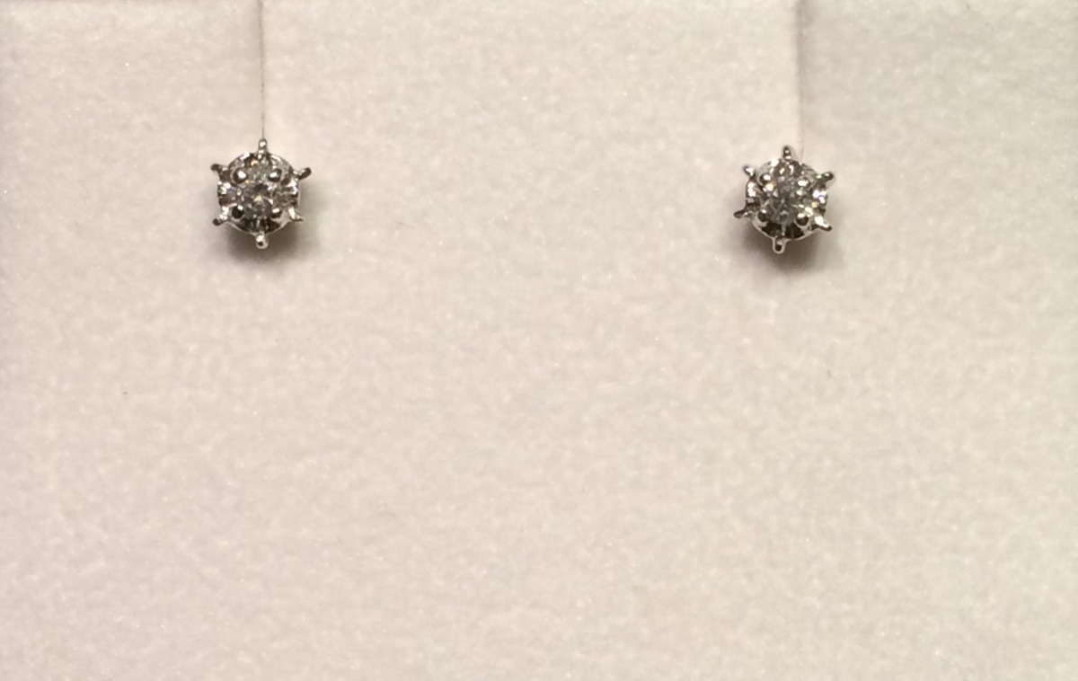 7dc4257d2473 Aros Oro Blanco Diamante -   318.000 en Mercado Libre